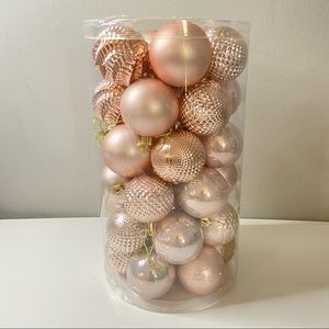 New 41-Pack Christmas Ball Ornaments Rose Gold